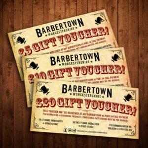 Barbertown Gift Vouchers